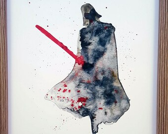 Darth Vader, Star wars Watercolour Print