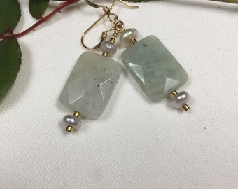 Pearl and Aquamarine Gemstones