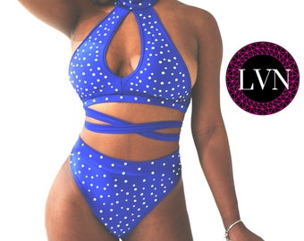 Exotic Dancewear Crisscross Open Bodysuit Stripper Outfits