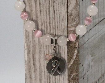 Breast Cancer Awareness - Hope - Ribbon Charm