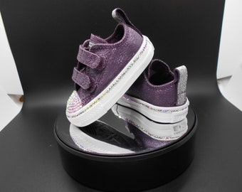 Bedazzled Converse Chucks - Girls Bling Converse - Crystal Infant Converse  - Custom Coverse - Bling Converse Kids   Toddlers - Baby Shoes 22b476d083