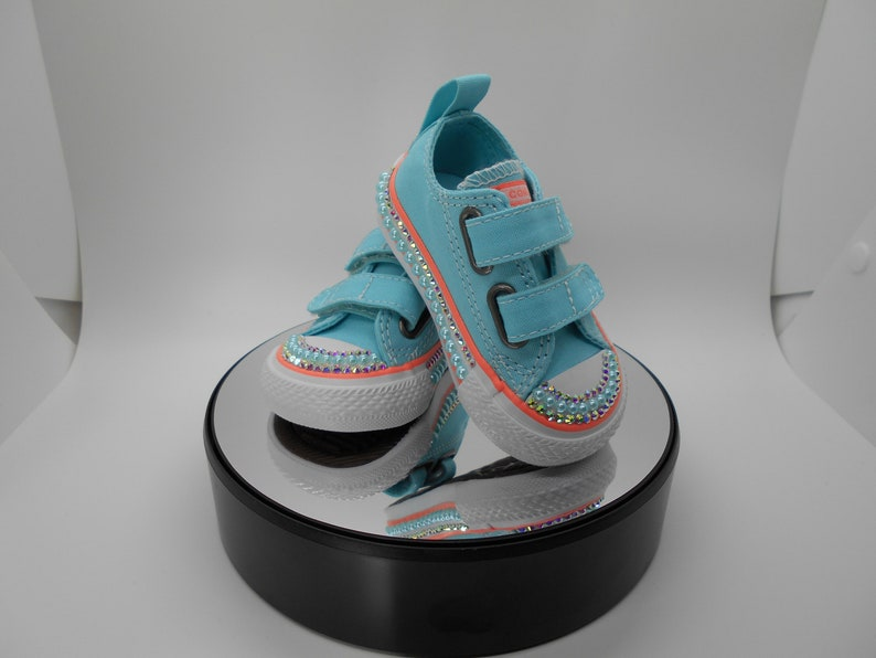 abcca6f7b776ab Bedazzled Converse Chucks Girls Bling Converse Crystal