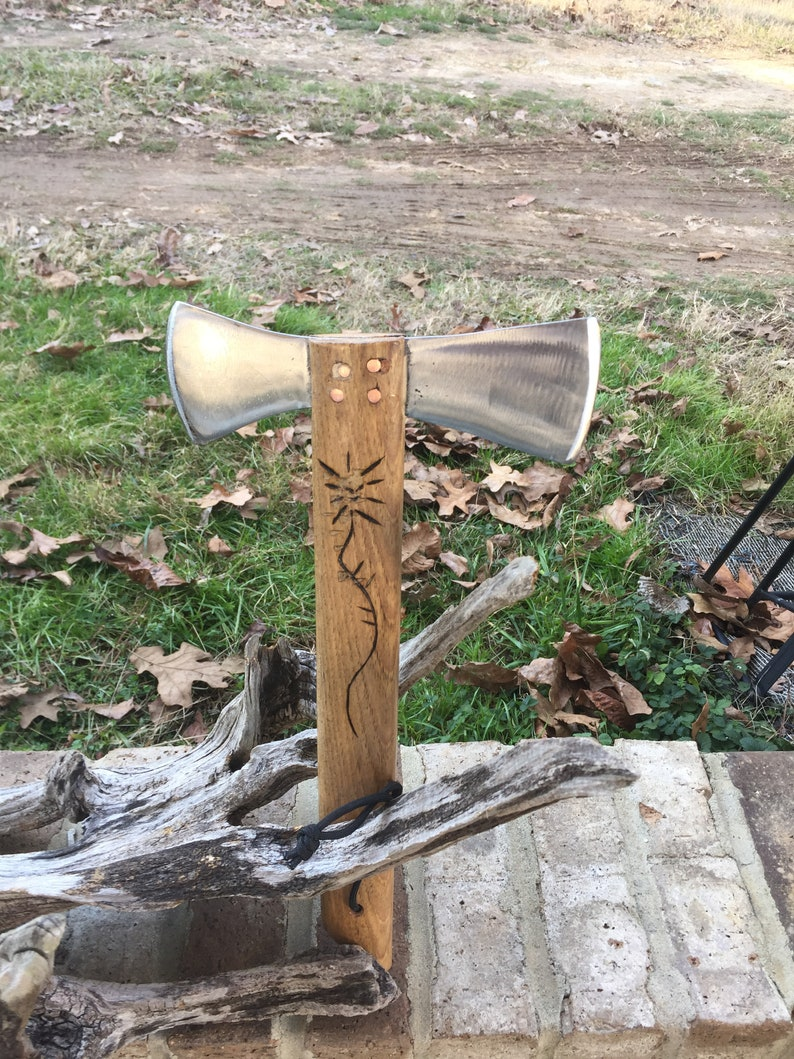 Hand Forged Hatchet made with Old Sawmill Blade