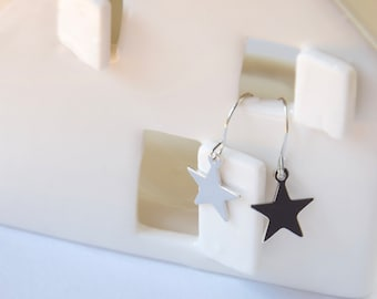 Tiny Silver Star earrings