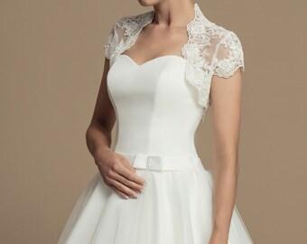 69d39cb46ae2 Bridal Bolero Lace Short