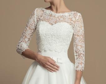b4664816eb20 Guipure Lace Bridal Bolero - Wedding Bolero