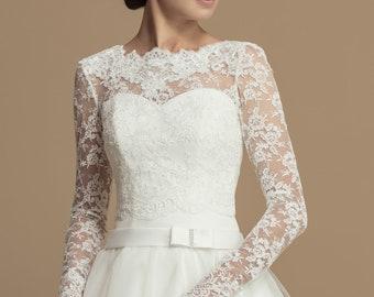 6b1a7cde09c0 Corded Lace Bridal Bolero - Season 2020