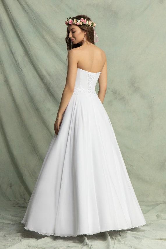 Klassische Hochzeit Kleid Empire Kleid Chiffon Etsy