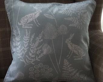 Handmade Keilder Seafoam Design Cushion with Piped Edging.