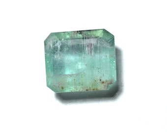 Natural Emerald Faceted Stone emerald 3.00cts Emerald Faceted Rectangle  shape Gemstone [s19]