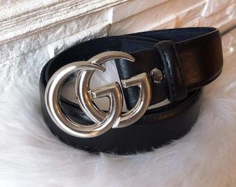 10892d0f6 Cheap Gucci Belts 2019 | The Sun UK. Black GG belt 3.8cm with Silver Buckle