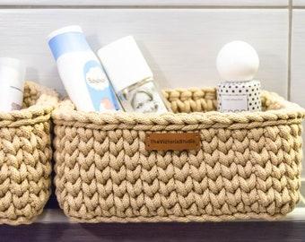 Crochet Basket Pattern | Crochet Storage Basket | Easy Crochet Pattern