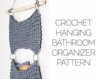 Crochet Hanging Bathroom Organizer Pattern