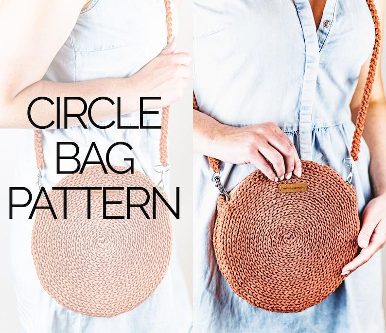 Crochet Circle Bag Pattern  Crochet Round Bag Pattern  image 0