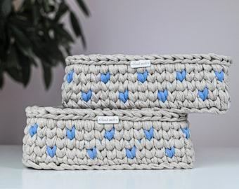 Crochet Nursery Basket Pattern | Crochet Basket with Wooden Base or Crochet Bottom | Crochet Pattern
