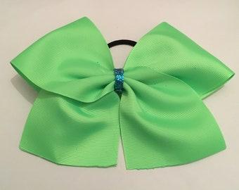 Neon green Hair Cheer Bow