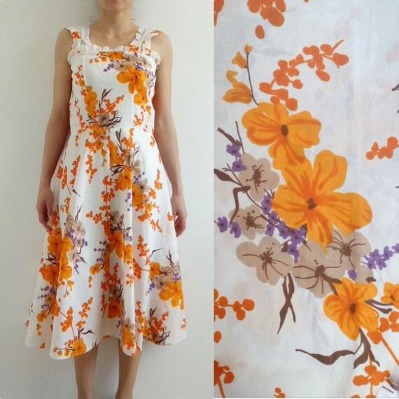 Stunning floral dress, Summer dress, Vintage dress