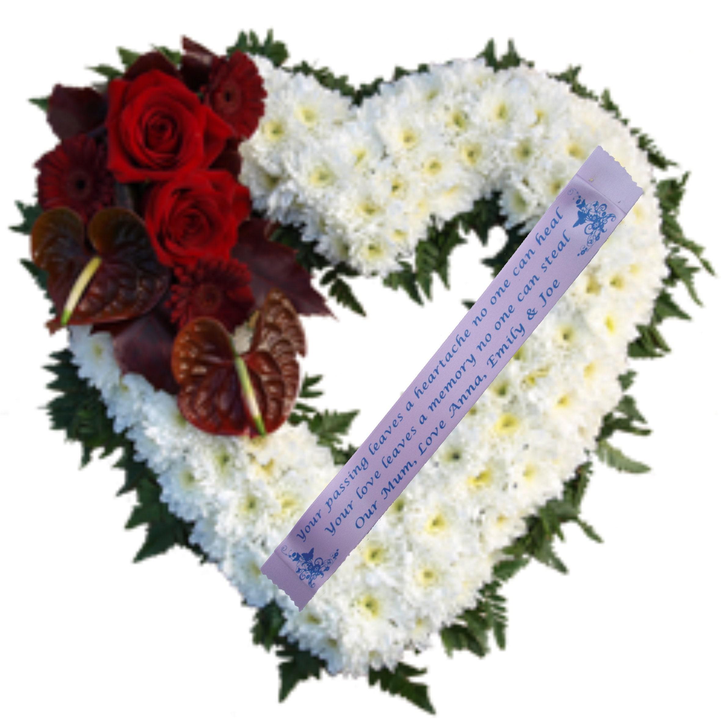 Personalised Funeral Ribbon 45mm Wreath Memorial Tribute Etsy
