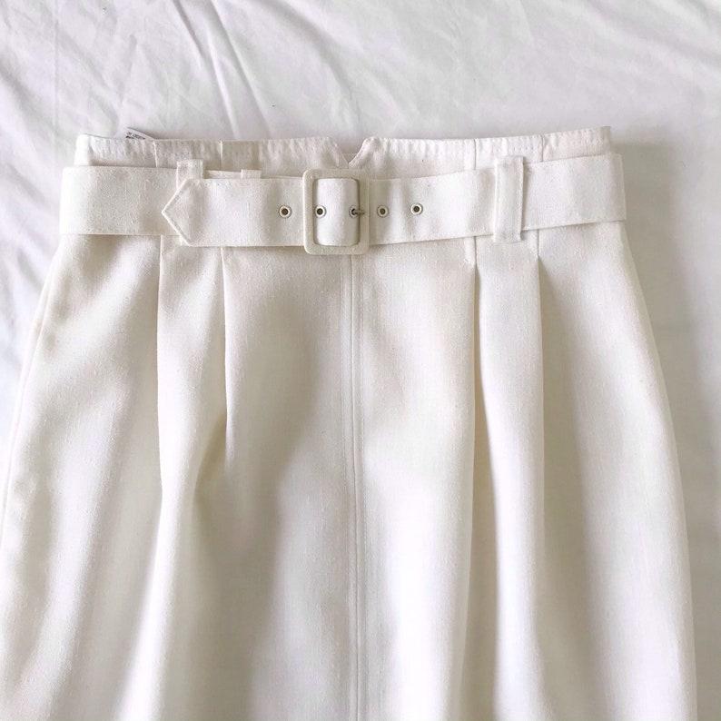 Marks /& Spencer Black Cream Stripe Lace Effect Pencil Skirt UK size 8