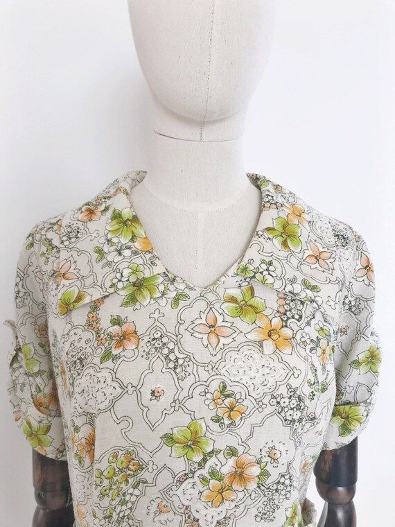Vintage 1960s day dress vintage sixties floral dre