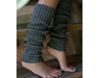 Handgestrickte 100% Merinowolle Beinwärmer, Frauen Knie hohe Welly Socken, weiche Wolle Fusslos Yoga Beinwärmer, Yoga-Liebhaber-Geschenk