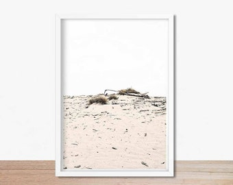 Pink Coastal Wall Art, Minimalist Art, Pale Pink Art Print, Instant Download Printable Art, Driftwood Wall Art, Moody Art, Pink Photography