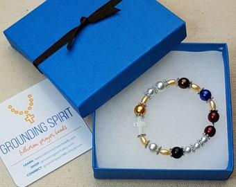 Girl's Pearls of Life Czech glass pearl elastic bracelet