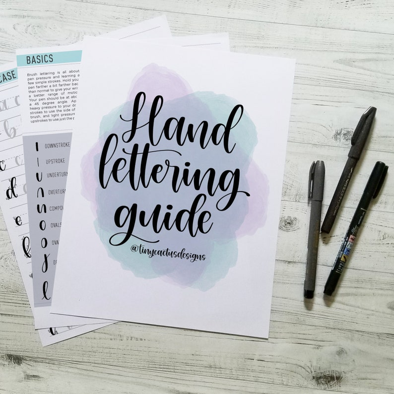 Hand Lettering Guide  Learn to Letter  Digital Download image 0
