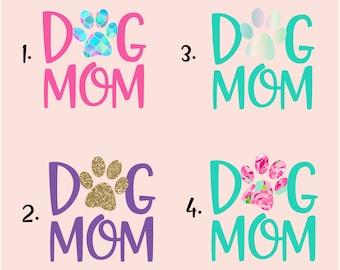 "Dog Mom Decal, 3"" Dog Decal, Pet Paw Decal, Dog Paw Window Sticker, Dog Mom Window Sticker, Yeti Decal, Paw Print Decal"