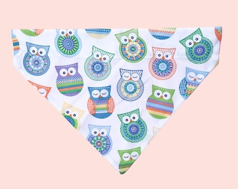 You're A Hoot | Over the Collar Dog Bandana | Pet Bandana | Dog Scarf | Dog Gift | Cat Bandana | Owls | Hoot | Bohemian Owls