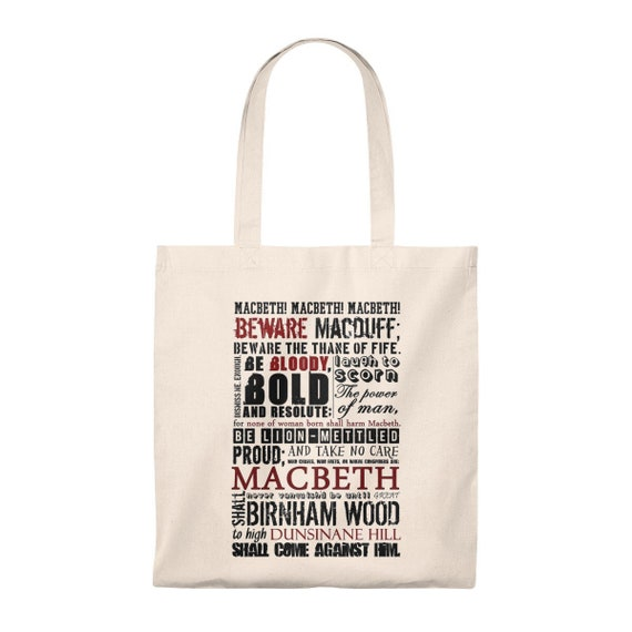 gift for girlfriend shoulder bag shakespeare quote gift for mom Shakespeare canvas bag book lover gift Tote Bag gift for recycled