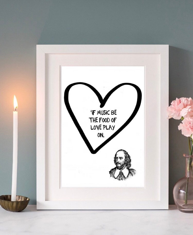 Shakespeare quote famous quote wall art framed quote life quotes wall print book lover gift wall decor inspirational quote bookworm