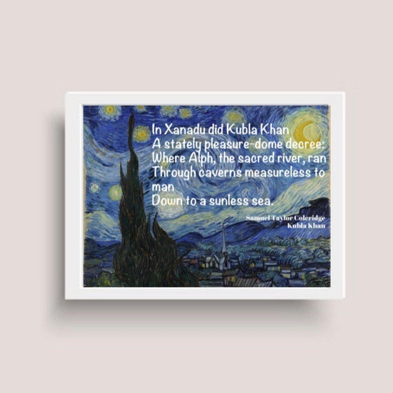Kubla Khan Samuel Taylor Coleridge Canvas Art Print