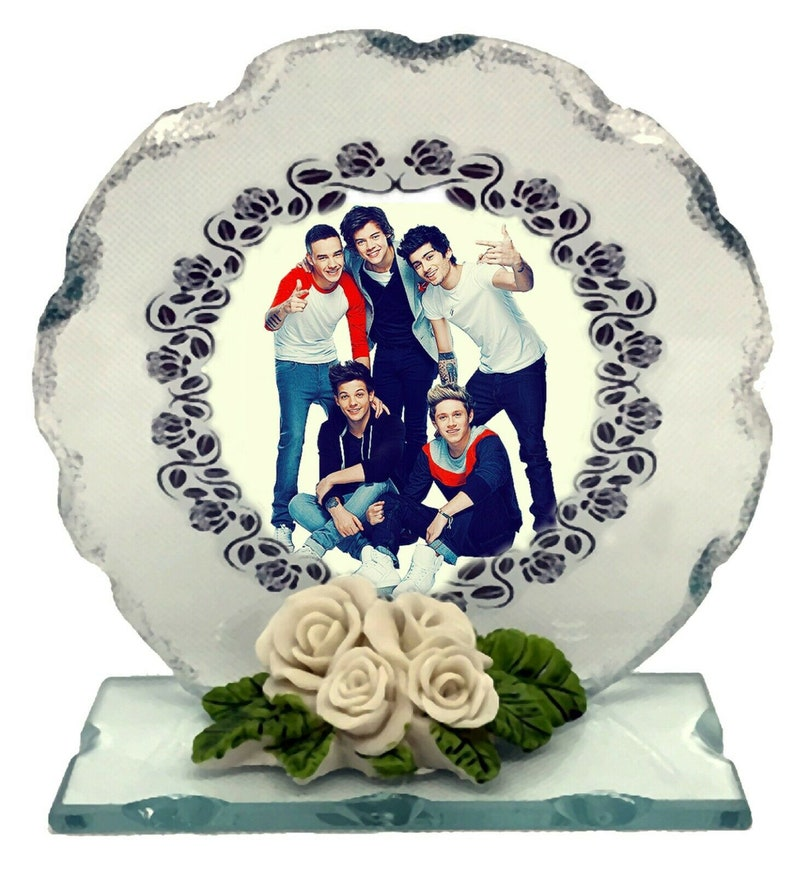 One Direction crystal glass plaque custom edition made to image 0