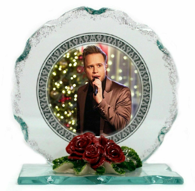 Olly Murs collectable Limited Edition Photo plaque Cut glass image 0