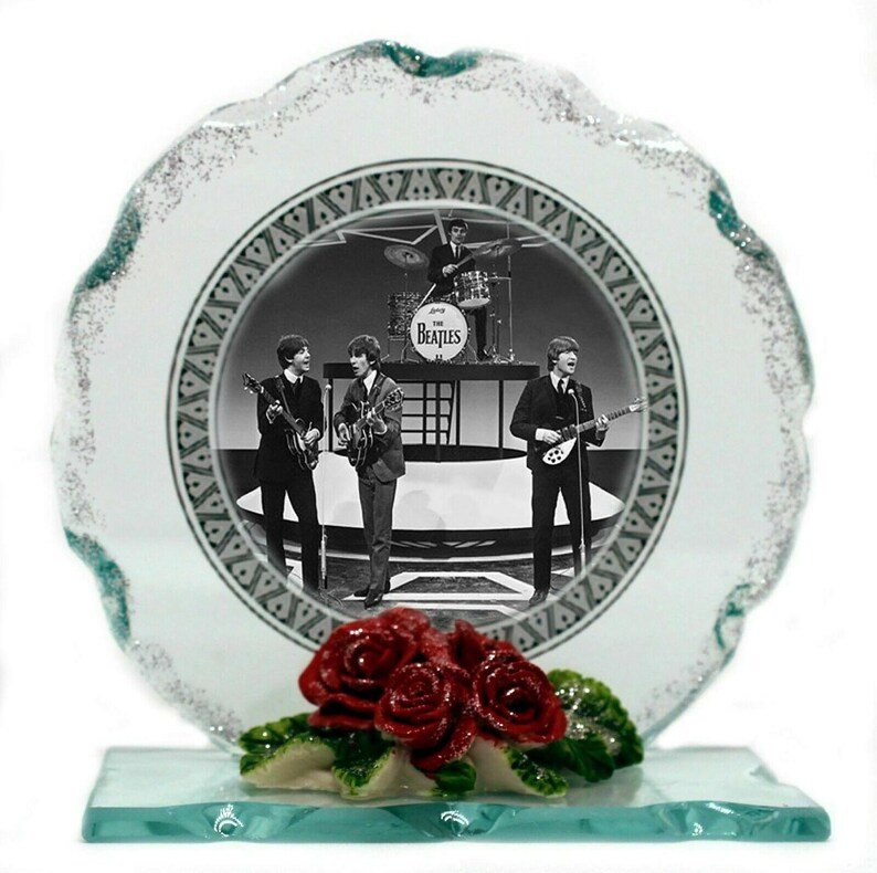 The Beatles Collectible Edition Photo plaque Cut glass image 0