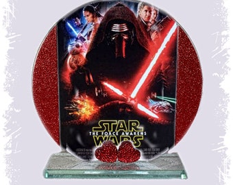 Star Wars, Force Awakens, Cellini Cut Glass Round Plaque, Limited Edition #1