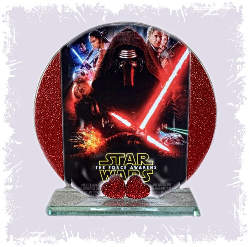 Star Wars Force Awakens Cellini Cut Glass Round Plaque image 0