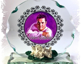 Donny Osmond, Puppy Love, Go Away Little Girl,  Cut Glass Round Plaque Limited Edition #4