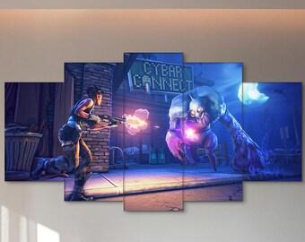 Shooter, Fortnite, Survival, Game, Cybar, Fortnite canvas, Survival canvas, Fortnite print, Survival print, Game print, Fortnite wall art