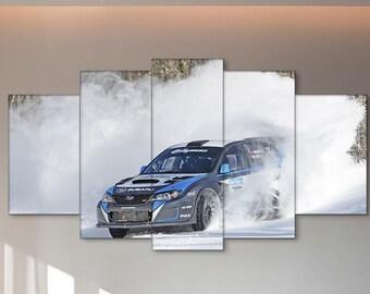 Rally, Car, David Higgins print, Sport print, Subaru canvas, Rally canvas, David Higgins, Subaru, David Higgins wall art, Rally wall art