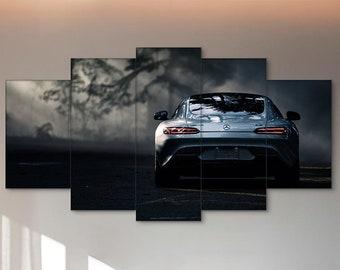 Mercedes-Benz, Car canvas, Mercedes wall art, Car print, Mercedes print, Car wall art, Mercedes canvas, Mercedes AMG GT S, Mercedes-Benz GTS