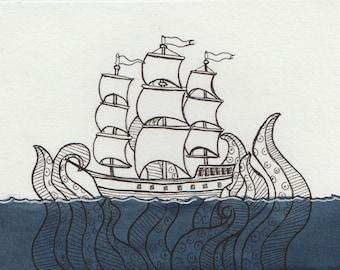 Lost at Sea (Original art)