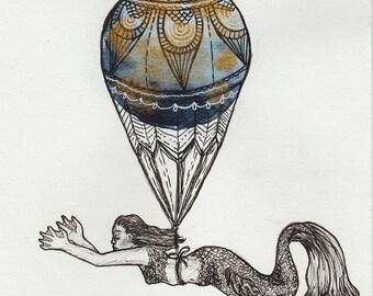 Floating (Original art)