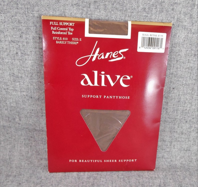 5e86e45ef8a0a Hanes Alive Full Control Top Pantyhose Reinforced Toe Barely | Etsy
