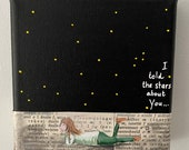 Mini canvas: I told the stars about you