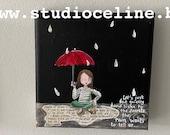 Mini canvas: Listen to the secrets of the rain