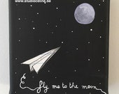 Mini canvas: Fly me to the Moon
