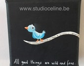 Mini canvas: All Good things are wild and free