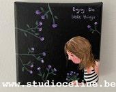 Mini canvas: Enjoy the little things